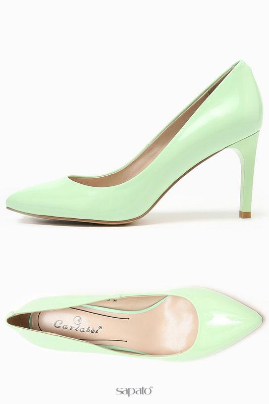 Туфли Carlabei Туфли зеленые