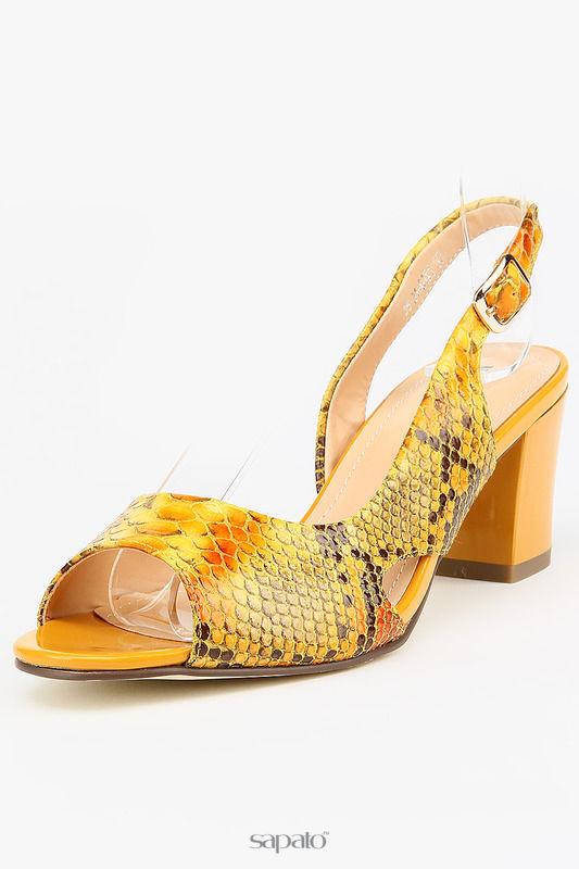 Босоножки MakFine Туфли жёлтые
