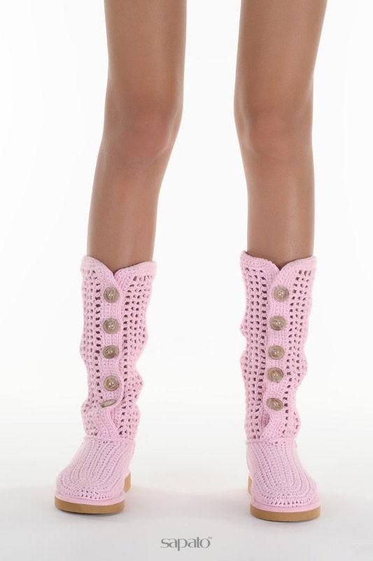 Сапоги Livs Сапоги высотой до колена розовые