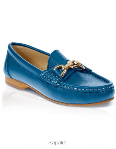 Мокасины Madeleine Мокасины голубые