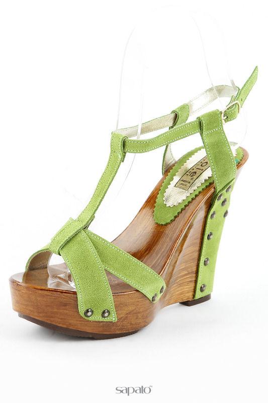 Босоножки Gioie Italiane Туфли зеленые
