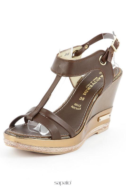 Босоножки PRATIVERDI Туфли коричневые