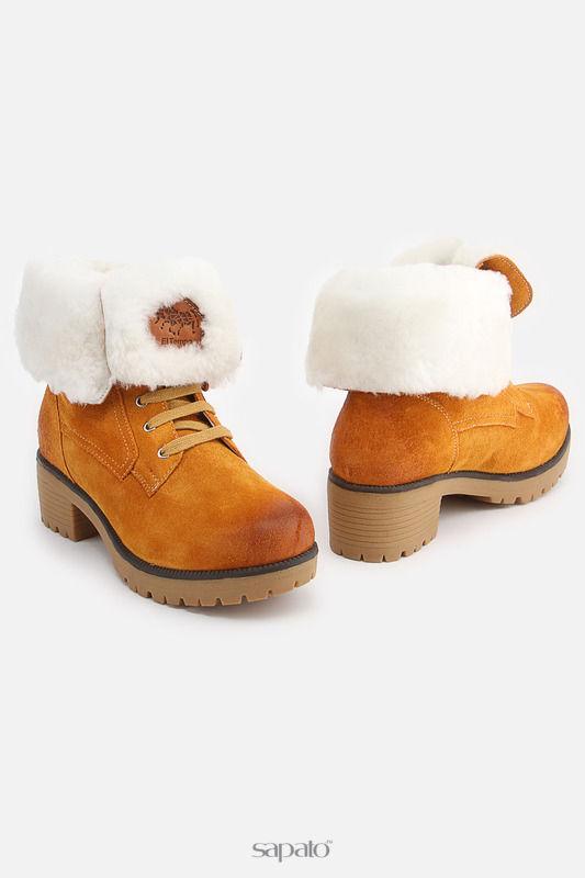 Ботинки El Tempo Полусапоги коричневые