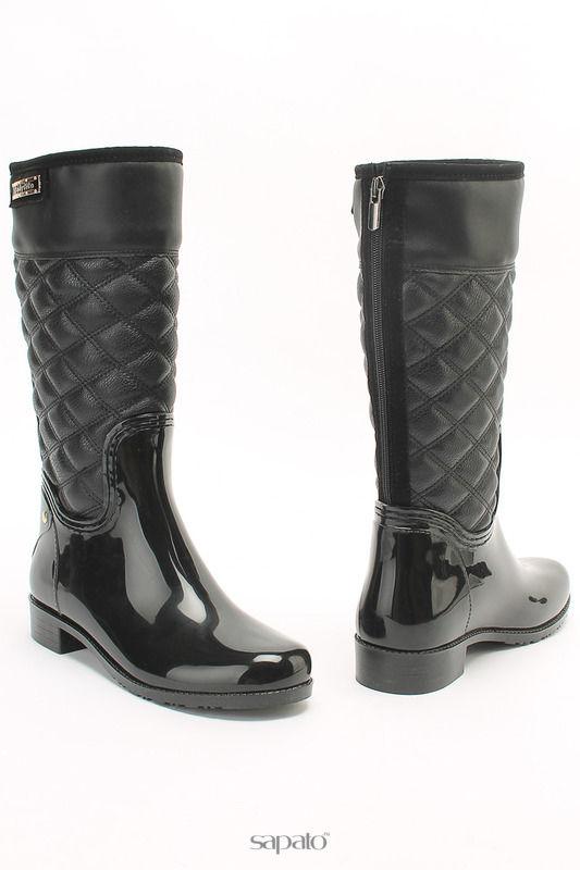 Сапоги LADYLITA.RU Резиновая обувь чёрные