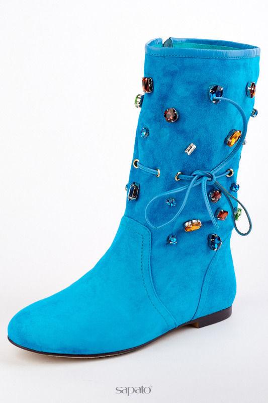 Сапоги Riccorona Ботинки голубые