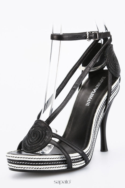 Босоножки Emporio Armani Босоножки на каблуках чёрные