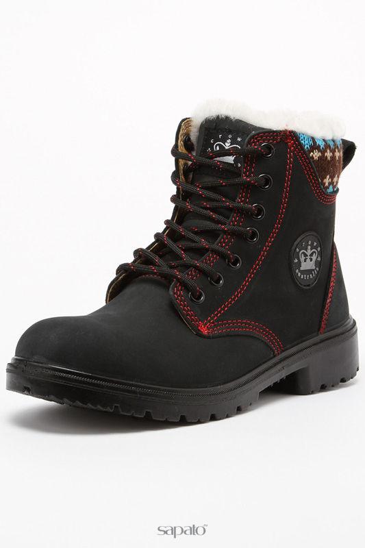 Ботинки Crown Australia Ботинки на меху чёрные