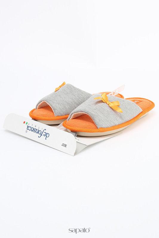 Домашняя обувь De Fonseca Тапочки оранжевые