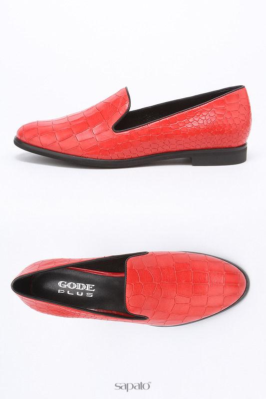 Туфли Gode Лоферы красные