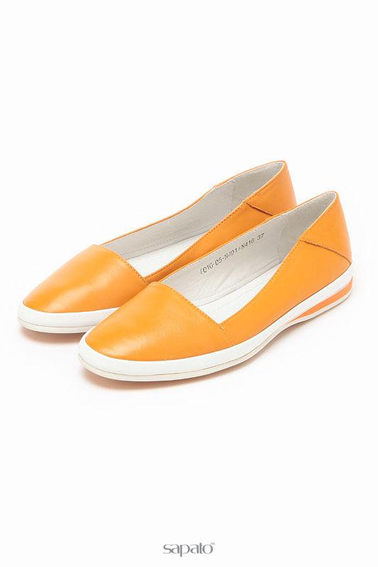 Балетки Carlabei Балетки оранжевые
