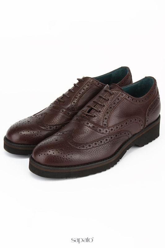 Ботинки Angelo Bervicato Лоферы коричневые