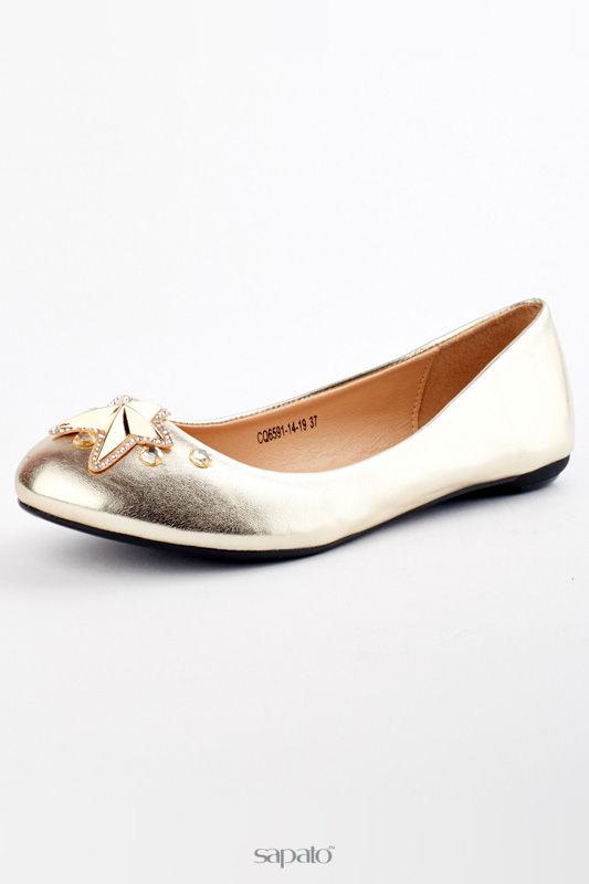 Балетки Itemblack Туфли золотистые