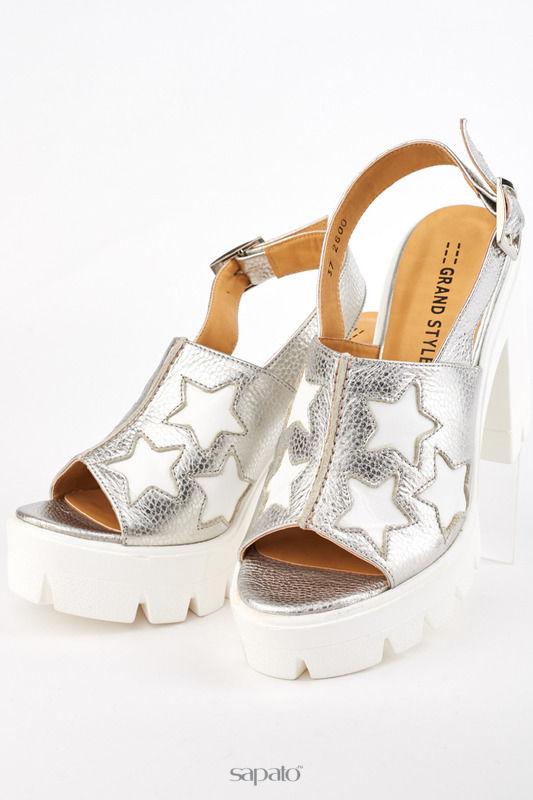 Босоножки Grand Style Туфли серебристые
