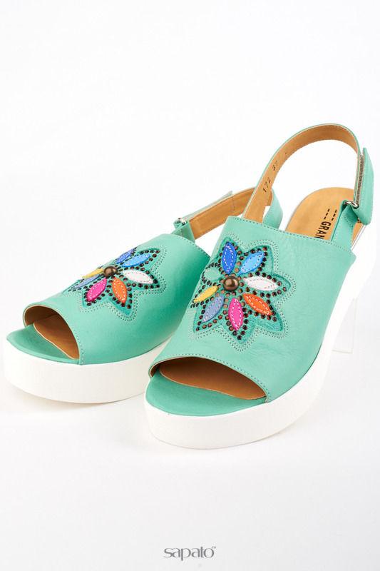 Босоножки Grand Style Туфли зеленые