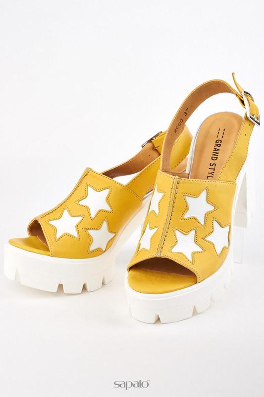 Босоножки Grand Style Туфли жёлтые