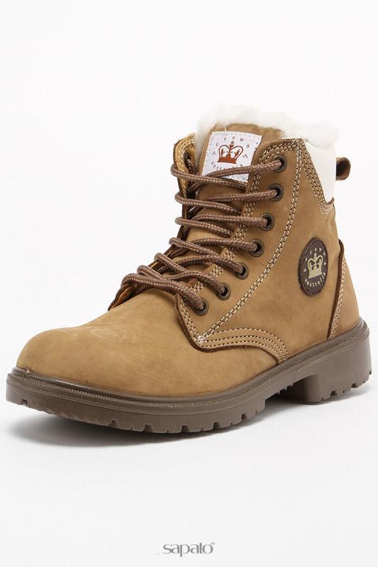 Ботинки Crown Australia Ботинки на меху бежевые