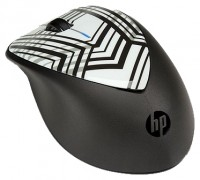 HP H2F41AA X4000 Zebra Fade Mouse Black-White USB