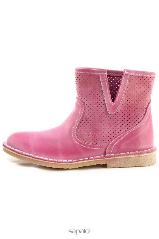 Сапоги WOZ Полусапоги розовые