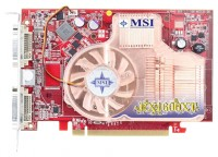 MSI Radeon X1600 XT 587Mhz PCI-E 256Mb 1386Mhz 128 bit 2xDVI TV YPrPb