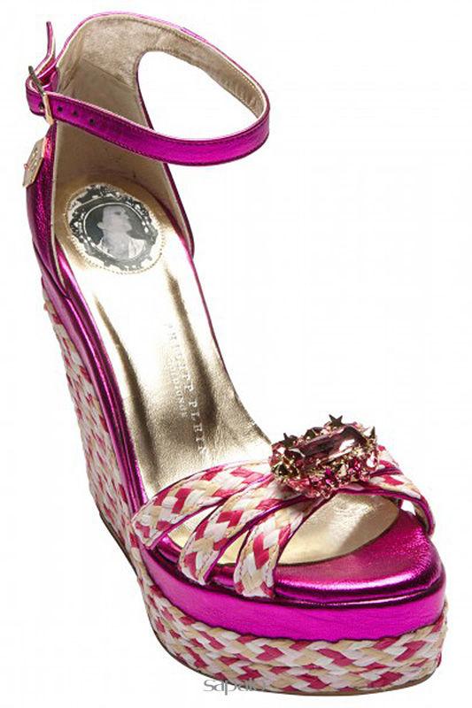Босоножки Philipp Plein Босоножки розовые