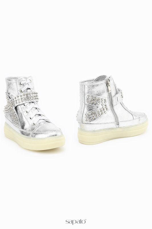 Ботинки ENISSE Ботинки серебристые