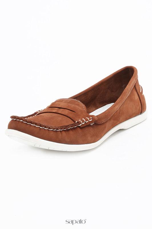 Мокасины SM SHOESMARKET Туфли летние коричневые