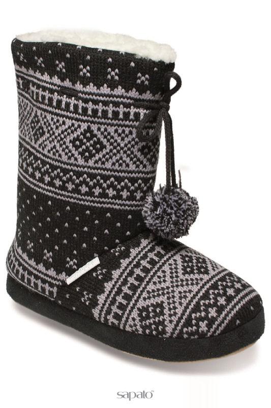 Домашняя обувь De Fonseca Тапочки чёрные