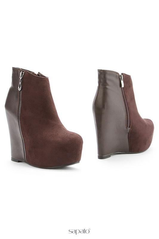 Ботильоны 1TO3 Ботинки коричневые