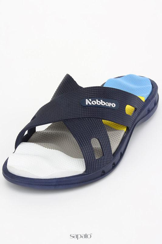 Шлепанцы NOBBARO Сандалии синие