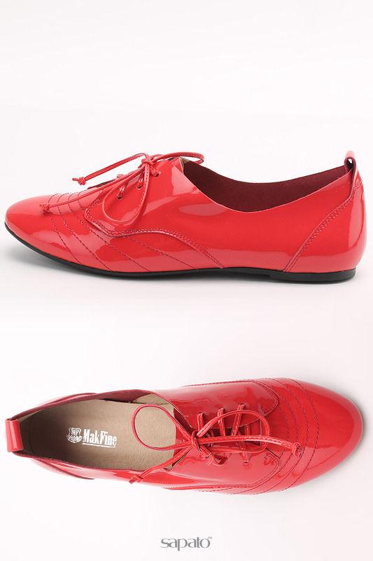 Ботинки MakFine Полуботинки красные