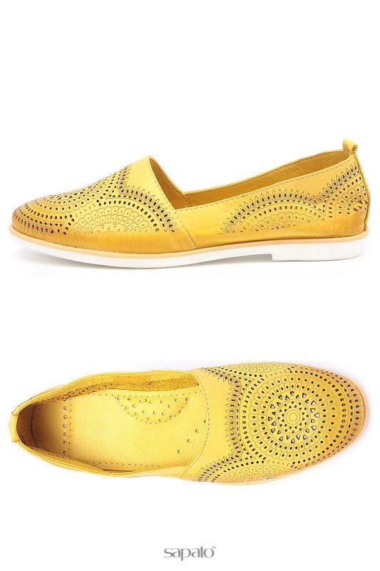 Балетки Donna Ricco Балетки жёлтые