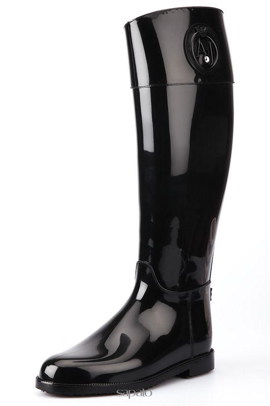 Сапоги Armani Jeans Резиновые сапоги бежевые