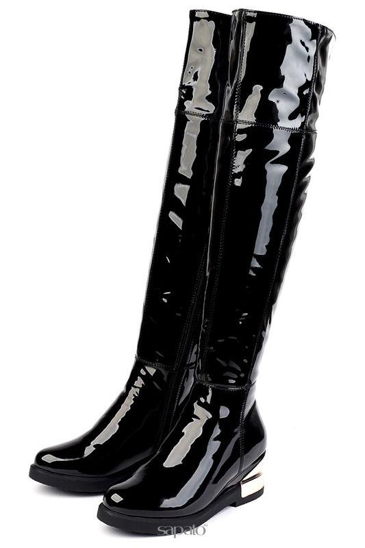 Сапоги Brocoli Ботфорты чёрные