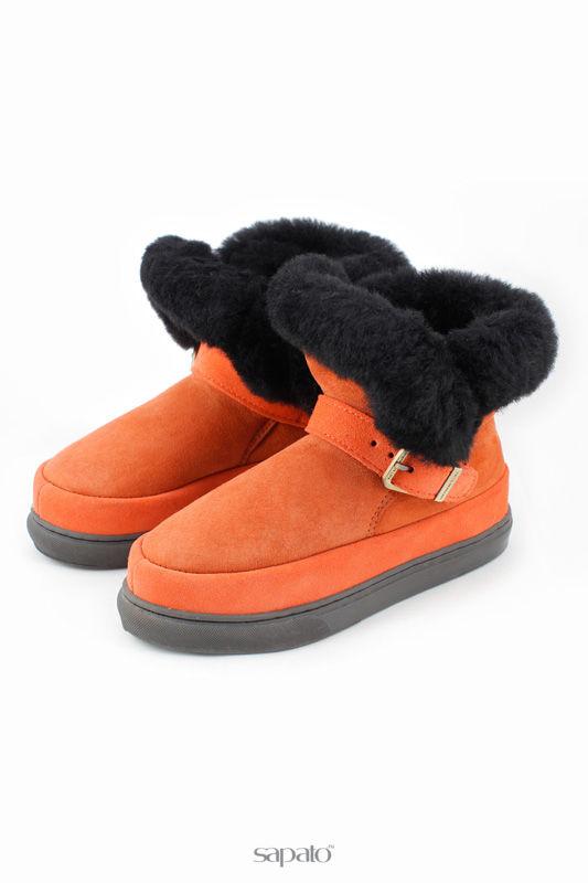 """Угги Shepherd""""s Life Ботинки из натуральной овчины оранжевые"""