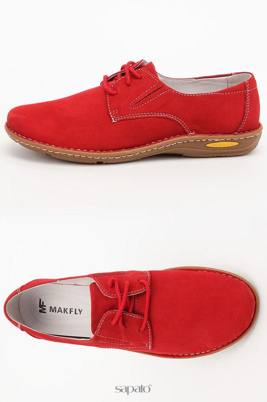 Ботинки MAKFLY Полуботинки красные