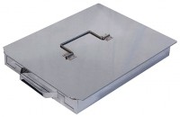 Технолит Коптильня-дипломат двухъярусная с поддоном для сбора жира 400х305х175 (нерж.ст. 0,8 мм) в с