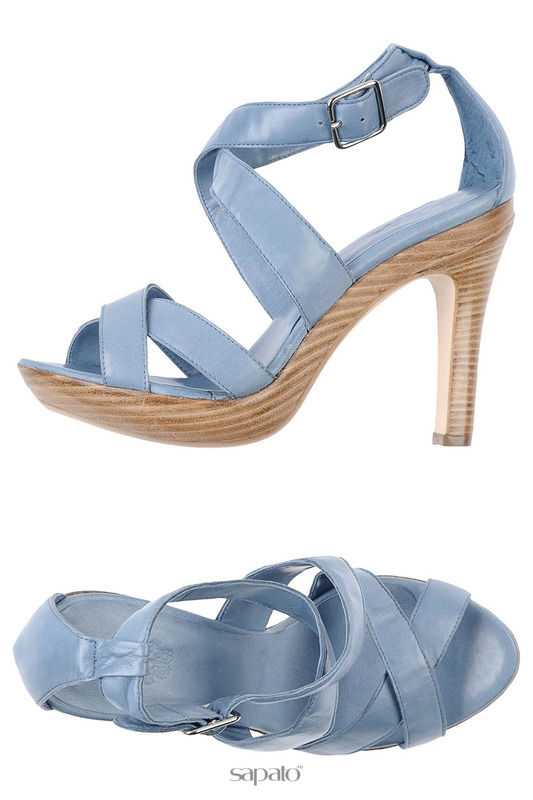 Босоножки Romano Босоножки на каблуках синие
