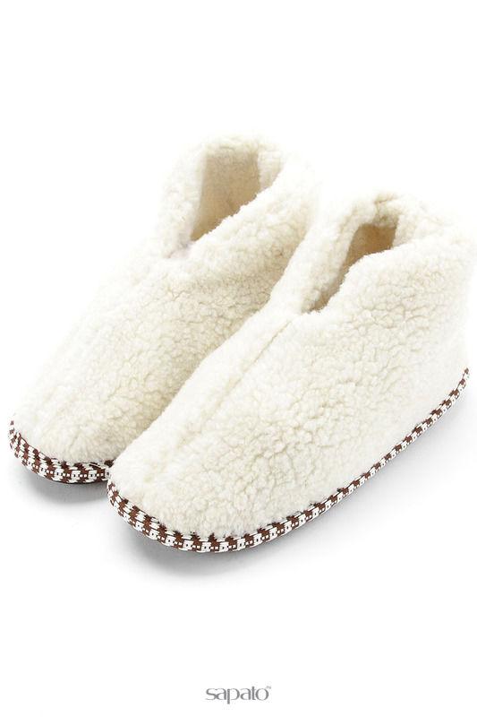 Домашняя обувь NOBBARO Туфли комнатные белые