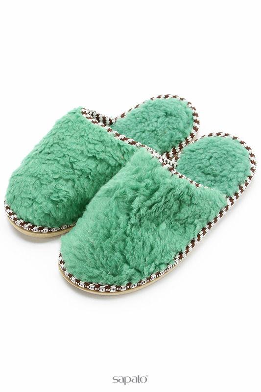 Домашняя обувь NOBBARO Туфли комнатные зеленые