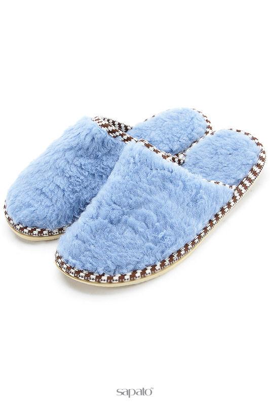 Домашняя обувь NOBBARO Туфли комнатные голубые