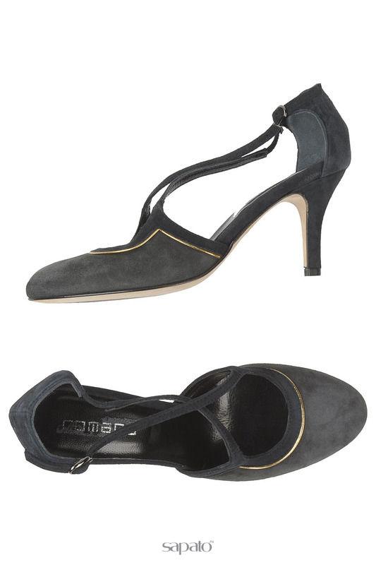Босоножки Romano Босоножки на каблуках серые