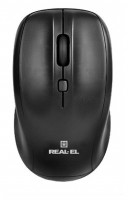 REAL-EL RM-310 Wireless Black USB