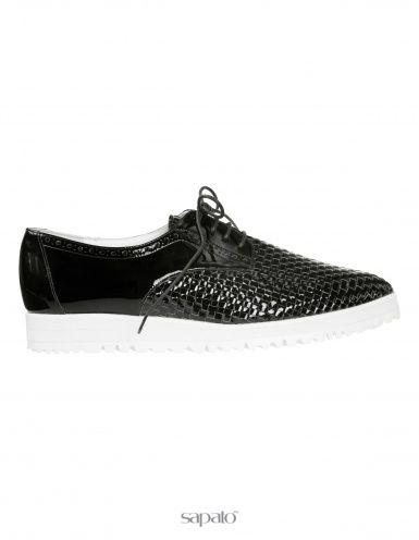 Ботинки Madeleine Ботинки чёрные / белые