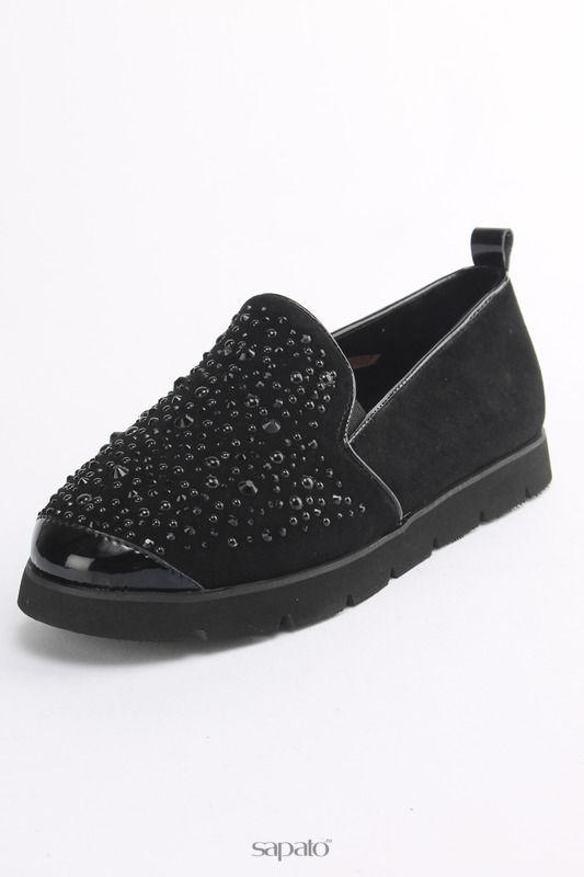 Ботинки Carlabei Лоферы чёрные