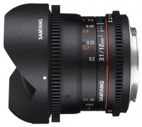 Samyang 12mm T3.1 ED AS NCS VDSLR Fish-eye Pentax K