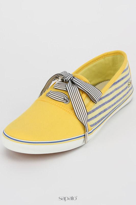 Кеды Lacoste Кеды жёлтые