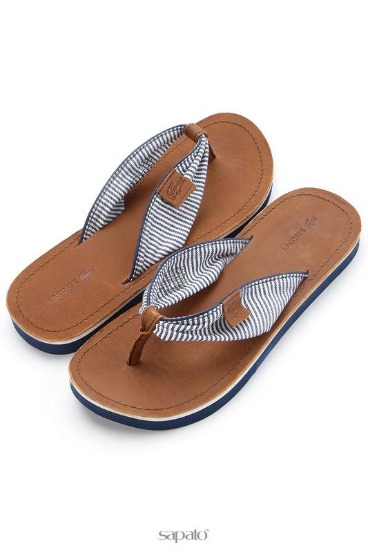 Шлепанцы Lacoste Обувь коричневые
