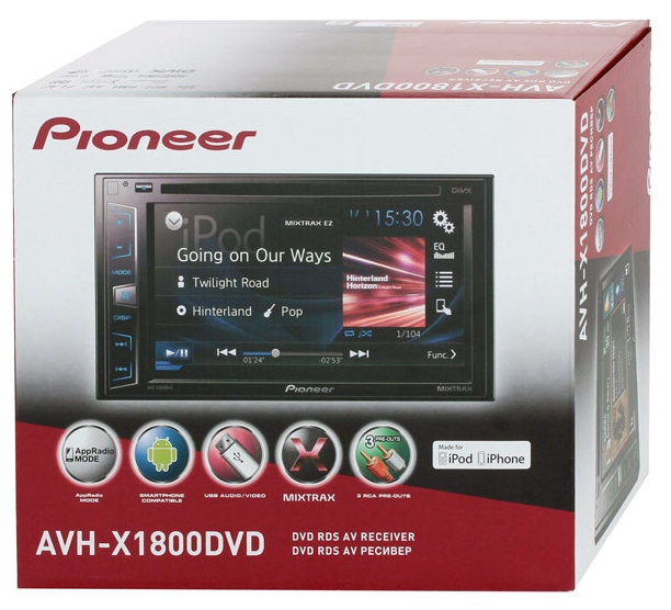 pioneer avh x1800dvd. Black Bedroom Furniture Sets. Home Design Ideas