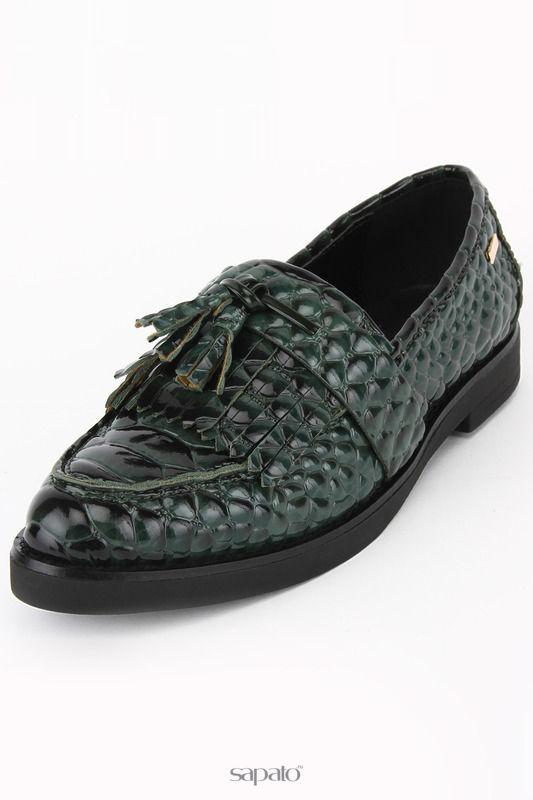 Туфли Roccobarocco Лоферы зеленые
