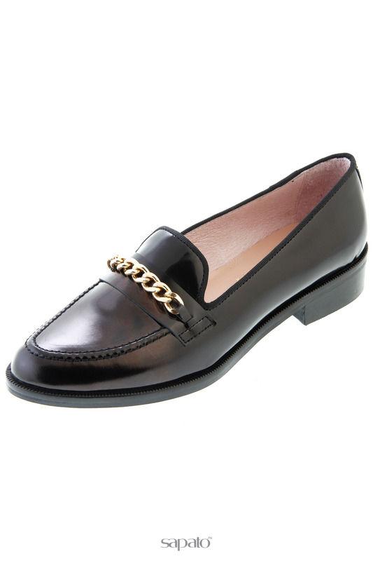 Туфли Las lolas Лоферы чёрные